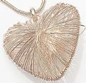 Large Heart Long Necklace ~ Rose Gold